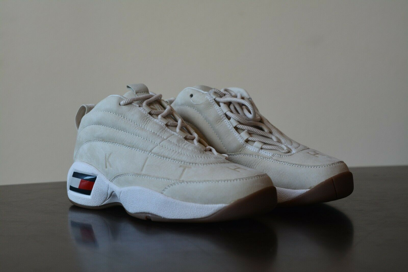 New 2018 KITH x Tommy Hilfiger Lux Friends & Family Tan Skew Basketball Sneaker