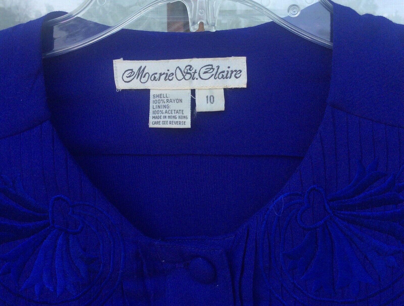 Marie St. Claire Vintage Maxie Dress Royal Blue C… - image 5