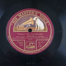 "12"" 78rpm HM COLDSTREAM GUARDS 1812 overture / tannhauser grand march"