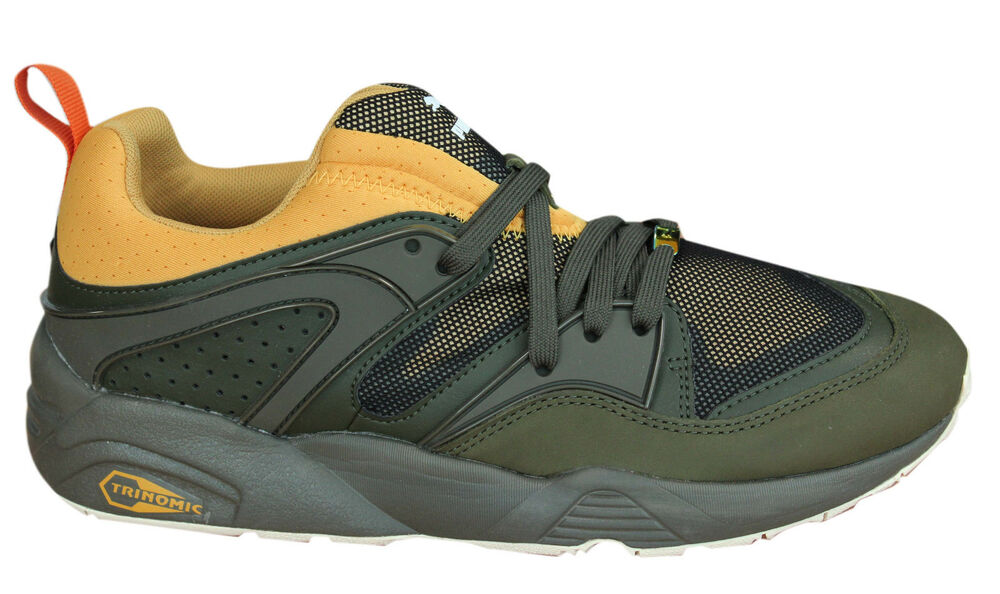 PUMA BLAZE OF GLORY Camping lacet vert olive Baskets toile 361408 03 D15