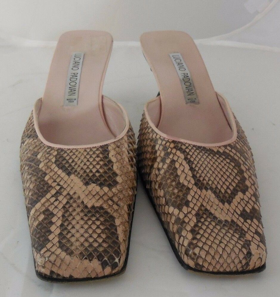Luciano Padovan Para Mujer Snake Skin impresión impresión impresión de tacón alto de 3  de talla 36 1 2 Euro 6 1 2  autorización oficial