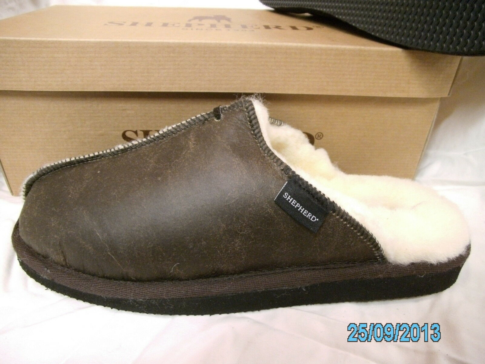 Hombre Gunuine Slippers Sheepskin Hard Sole Mule Slippers Gunuine Shepherd