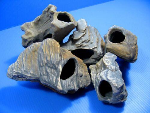 5PC MF CICHLID STONE Ceramic Aquarium Rock Cave decoration Ornaments fish tank