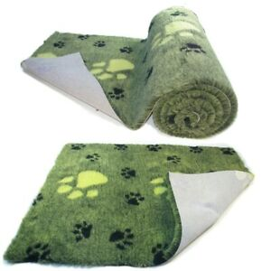 Linge de lit de grande taille de vétérinaire de haute qualité de Blackpaw de vert de chaux molleton de lit arrière antidérapant pour