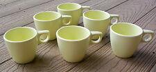 Vintage Melmac Arrowhead Set 6 Pale Yellow Small Coffee Cups Melamine