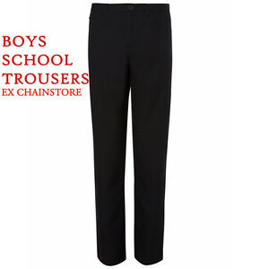 BOYS SCHOOL TROUSERS EX STORE NAVY,GREY 3-16 YEARS