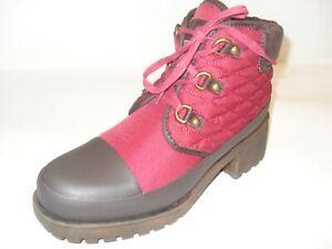 Lucky-Brand-Akonn-Ruby-Wine-Java-Matte-Nylon-Boots-Bootie-New