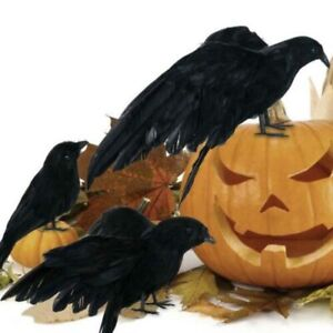 1-2Pcs-Halloween-Fake-Blackbird-Crow-Toy-Spooky-Scary-Home-Party-Decoration