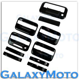 04-14-Ford-F150-Gloss-Black-4-Door-Handle-keypad-no-PSG-KH-Tailgate-Cover-Kit