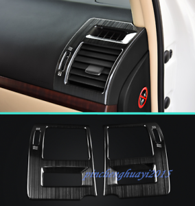 Black titanium Car Roof Air Vent Outlet Cover Trim For Toyota Prado FJ150 10-19
