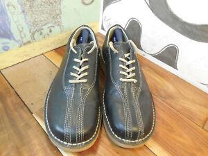 Izod-Black-Leather-Casual-Oxfords-034-Greenville-034-Men-039-s-10M-Made-in-Brazil-Vibram