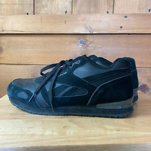 Reebok Classic Leather Black Suede Size
