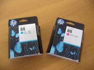 4 Cartucce ORIGINALI HP  OFFICEJET 88 (1 Ciano - 3 Magenta)