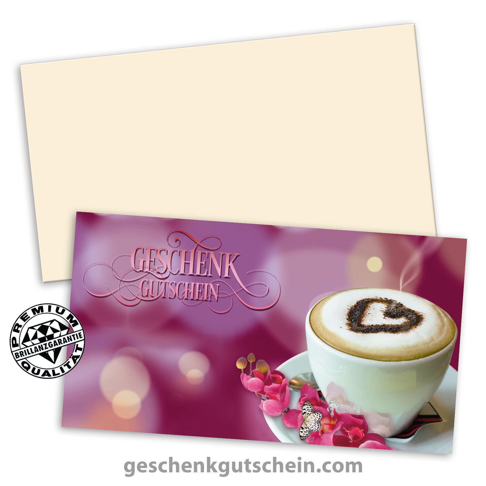 Gutscheinkarten  Standard  mit KuGrüns, Café Kaffehäuser Bäcker Konditor G1254