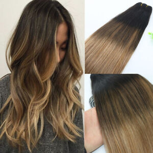 Details about 10A RUSSIAN 100g Human Hair Extension 2/6/18 Ash Blonde  Balayage Ombre Straight