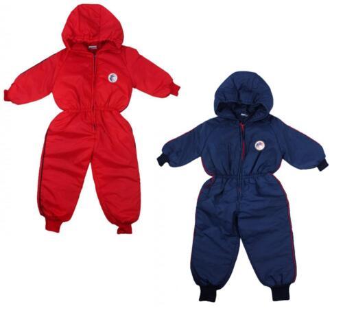 Boys Baby Swallow Motif Hooded Snowsuit Ski Suit Pramsuit Coat 6 to 18 Months