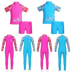 Toddler-Girls-Rash-Guard-Swimsuit-Bath-Surfing-Swimming-Swimwear-Beach-Costume