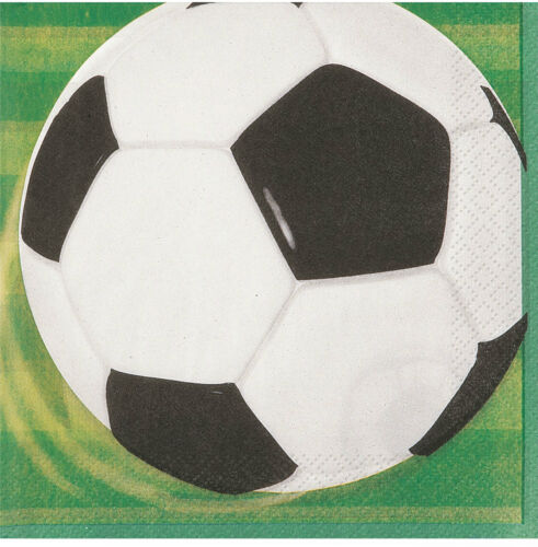 Football Soccer Birthday Party Tableware Napkins Plates Cups Tablecover