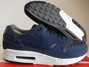 Details about NIKE AIR MAX 1 WOVEN MIDNIGHT NAVY BLUE BLACK SZ 13 [725232 400]