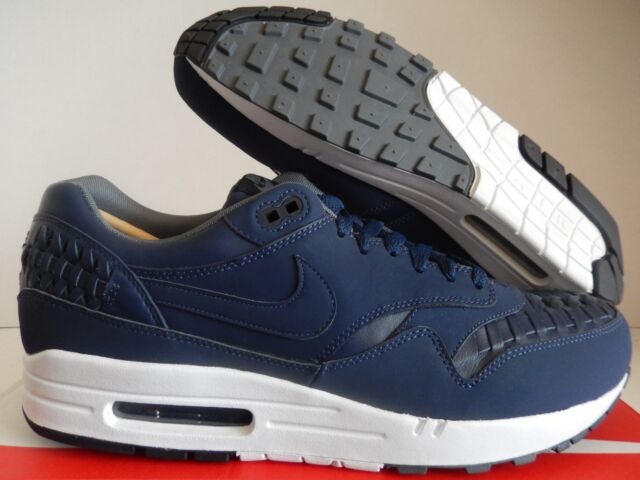 hot sale online 04523 d743a NIKE AIR MAX 1 WOVEN MIDNIGHT NAVY BLUE-BLACK SZ 13  725232-400