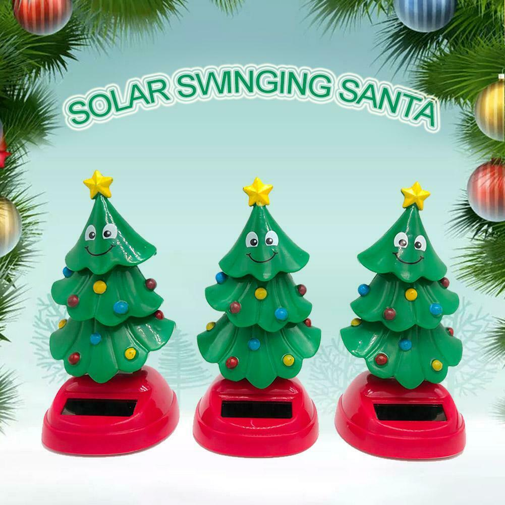 for Kids Christmas Toy Gift vividly Supicity Solar Swinging Christmas Tree Bobblehead for Car and Home Decoration Dancing Christmas Tree Toy