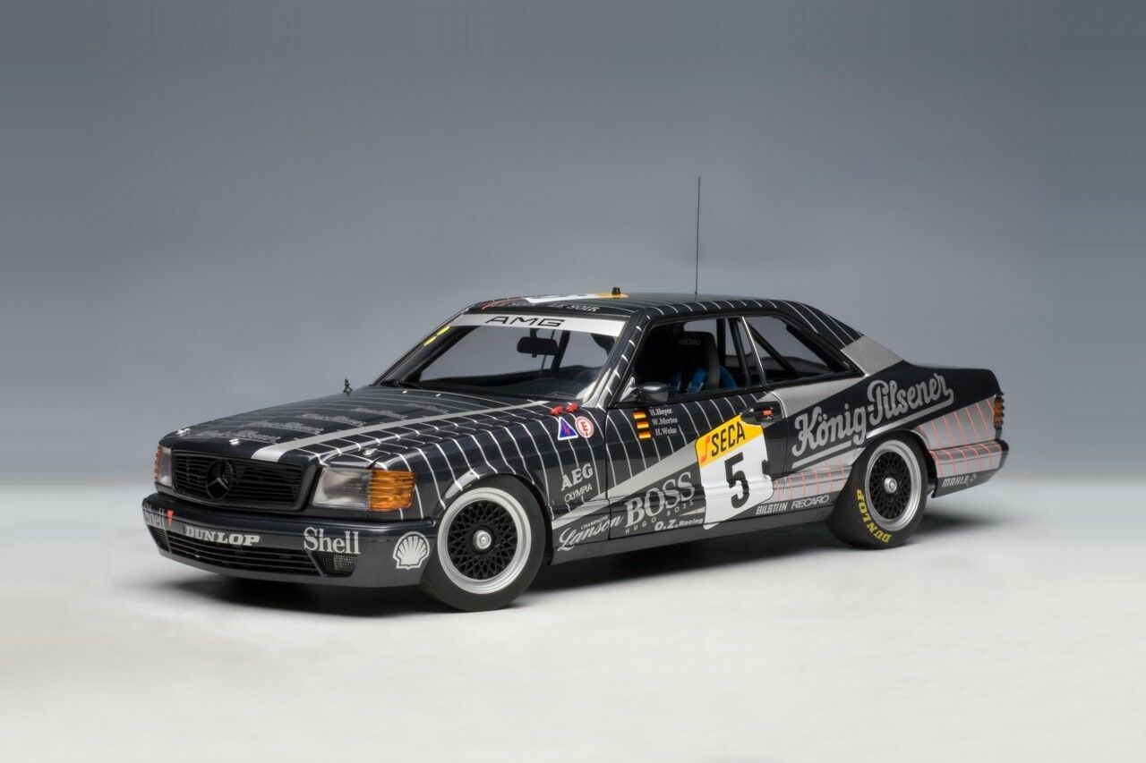 MERCEDES 500 SEC AMG  5 24 H SPA FRANCORCHAMPS 1989 HEYER MERTES WESS AUTOART