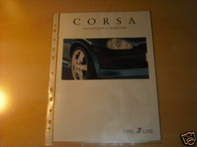 10577) Opel Corsa B I-line Prospekt 1997
