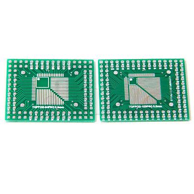 5pcs QFP/TQFP/LQFP/FQFP 32/44/64/80/100 to DIP Adapter PCB Board Converter HM