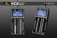 XTAR VC2 Universal Intelligent Battery LCD Charger for Li-ion 10440 18650 26650