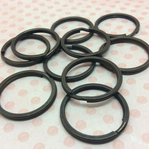 20 large split rings antique bronze tone 25mm keyring keychain keyclasp