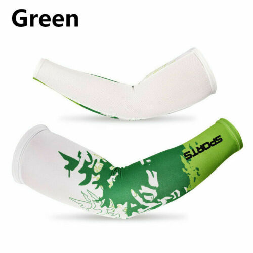 Men Cooling Arm Sleeves Cover Cycling Run Fishing UV Sun Protection Outdoor HOT