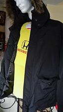 American Rag Men's Winter Snorkel Parka Jacket Fur Hood Coat-Black,Navy LARGE