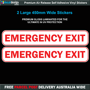 Emergency-Exit-Decals-x2-Gloss-Laminated-Passenger-Bus-Transport-Decals-E010