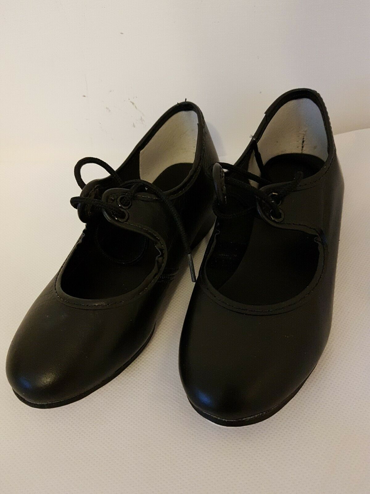 childrens tap dance shoes black leather various sizes 7,8 and 13 pick one