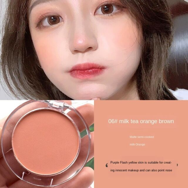 Single Color Long Lasting Blush Powder Exquisite Face Makeup Contour Cosmetics