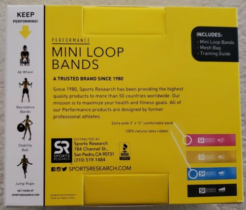 Sports Research Performance Mini Loop Bands Brand New In Box