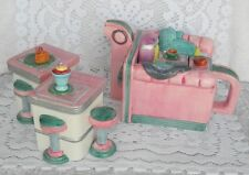Fitz & Floyd OmniBus Kitchy's Diner Rockola 50's Style Teapot Sugar Bowl Creamer