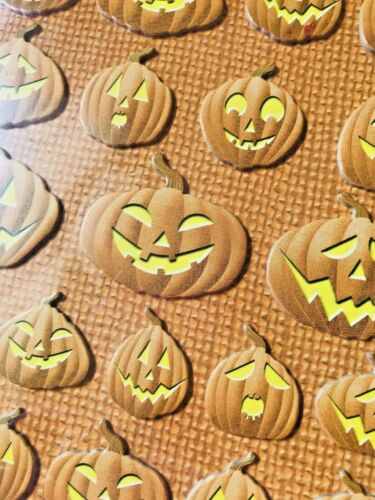 NIP TRICK OR TREAT JACK-O-LANTERNS GHOSTS HALLOWEEN REMINISCE CHIPBOARD STICKERS