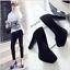 Indexbild 5 - 33-48 10.5cm Blockabsatz Elegant Pumps High Heels Party Damen Schuhe Crossdress