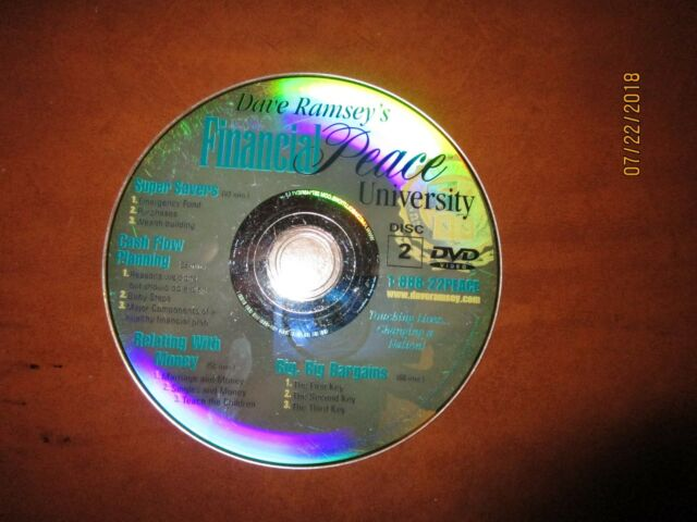 Dave Ramsey Financial Peace University DVD Video Disc 2 only Copywright 2001