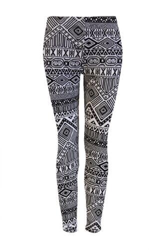 Imprimé aztèque Mesdames harem /& leggins pleine longueur plus taille baggy pantalon filles