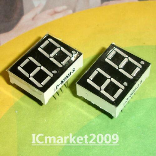 10 Pcs à 2 chiffres 0.56 in Rouge Numérique DEL Display Common Cathode 2 Bit LD-5261AS environ 1.42 cm