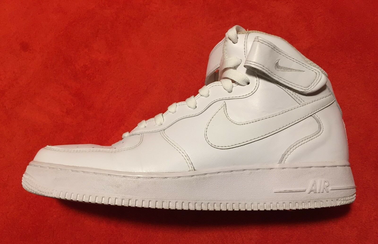 Nike Air Force 1 AF1 White High Leather Men's Sneaker shoes Sz 11.5
