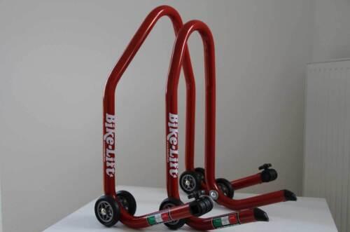 "Supporto Montaggio Moto avanti//indietro /""Bike lift/"" assembly stand Set MOTORCYCLE"