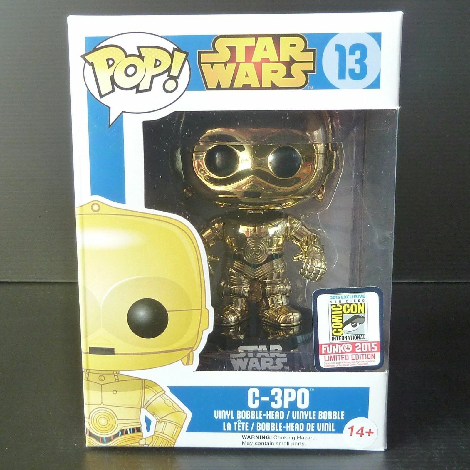 FUNKO POP  Star Wars C-3PO Gold Chrome  13 Comic Con 2015 Exclusive San Diego