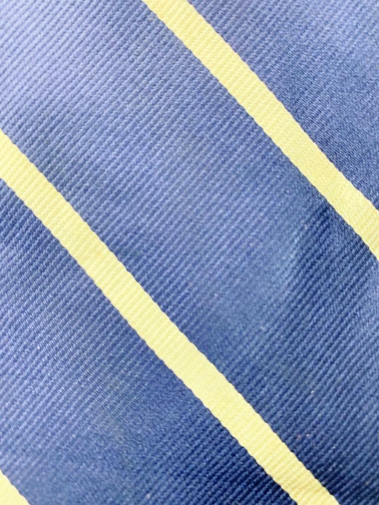 BROOKS BASICS Dunkelblau Gelb Seide Krawatte Streifen Krawatte MJN0121B #E19