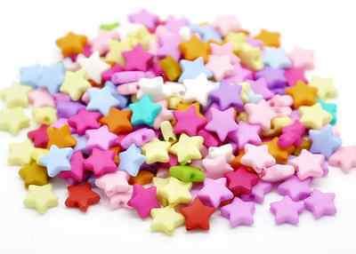 500 Star Beads Kandi Rave 9x9mm Craft Acrylic Hair Jewelry Kids Mixed Color