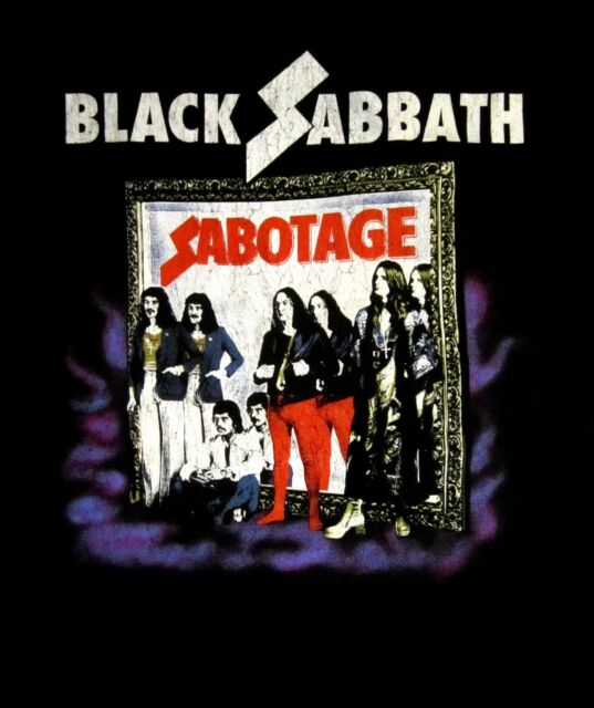 BLACK SABBATH cd cvr SABOTAGE VINTAGE Official SHIRT LRG New ozzy osbourne