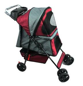 Jespet-Four-Wheel-Pet-Stroller-for-Cat-Dog-and-More-Foldable-Strolling