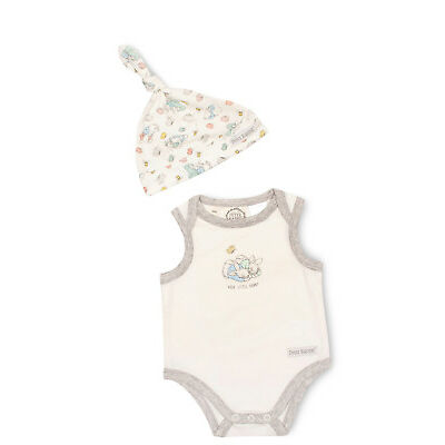 NEW Peter Rabbit Sleeveless Bodysuit With Hat White
